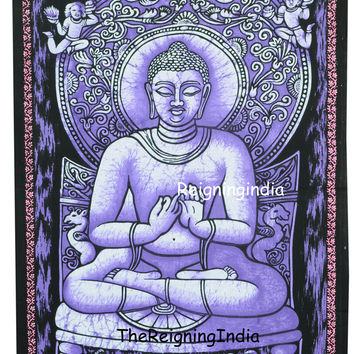 Buddha Wall Tapestry Unframed Painting Fabric Poster Cotton Yoga Room Decor 94