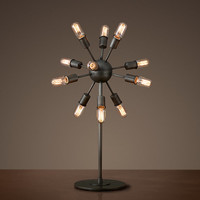 Sputnik Filament Table Lamp - Aged Steel
