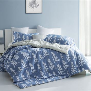 Dorm Room Comforter Set - Blue and White Extra Long Twin Designer Dorm Bedding