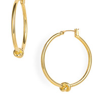 kate spade new york 'sailors knot' hoop earrings