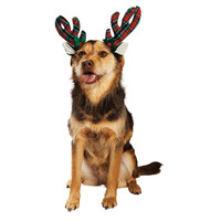 Petco Holiday Plaid Dog Antlers