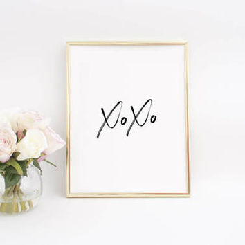 Girls Bedroom Decor,Nursery Girls,Xoxo Decor,Xoxo Print,Love Sign,Love Quote,GOSSIP GIRL,XOXO,Gift For Her,Girly Print,Girls Room Decor