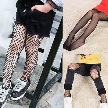 Girl Tights Mesh Fishnet Pantyhose Black Stockings