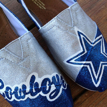 Dallas Cowboys - Painted Custom TOMS or BOBS