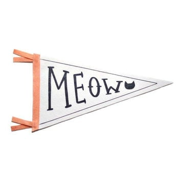 Meow Pennant Flag Decor