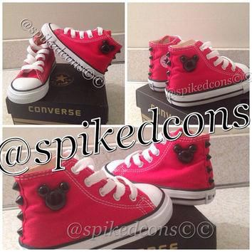 Mickey Mouse Converse (back studs & Mickey head)