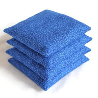 Bean Bags Bright Blue Children's Toy Homeschool 4 Inch Square (set of 4) - US Shipping Included