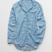 Aerie Chambray Shirt, Blue