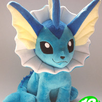 "Free Shipping Japanese Anime Pokemon Plush Toys 12"" Kawaii Vaporeon Dolls Stuffed Toys Christmas & Birthday Gifts"