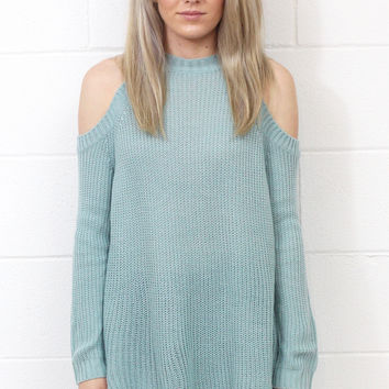 Show Me Some Shoulder Sweater {Icy Blue}