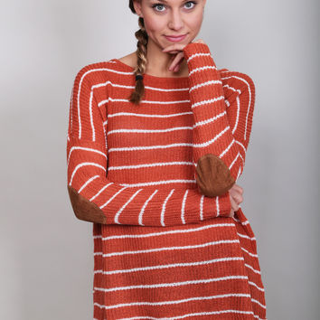 Patched Together Striped Knit Top