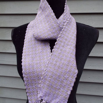 Hand-woven scarf, Purple Scarf, lightweight cotton scarf, Extra long scarf, hand-weaving, woven accessories, handmade, weaver, spring scarf