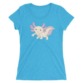 Cute Axolotl Short sleeve women's t-shirt