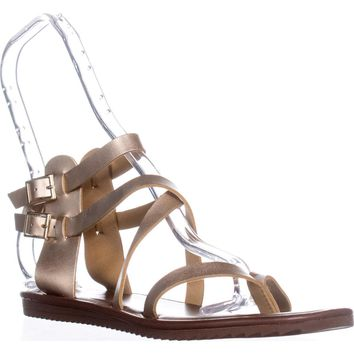 Seven Dials Sync Ankle Strap Sandals, Gold Metallic, 9 US