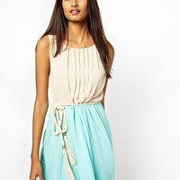 r Dress with Rope Belt