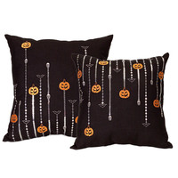 Sequin Halloween Pillow Set