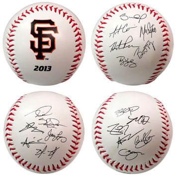 2013 Team Roster Signature Ball - San Francisco Giants