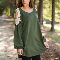 A Little Something For Me Top, Forest Green