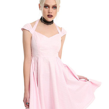 Hell Bunny Pink Eveline Swing Dress