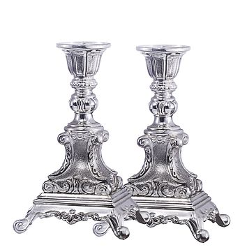 Candle Holder Silver Plated  Set 6""