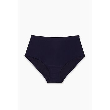 St Vincent High Waisted Bikini Bottom (Curves) - Deep Pacific