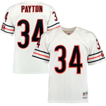 Men's Chicago Bears Walter Payton Mitchell & Ness White Retired Player Replica Jersey