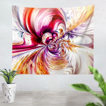 Abstract Waves Tapestry