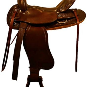 "Ozark Leather Co. Hand Crafted Brown Trail Saddle 16"" Seat"