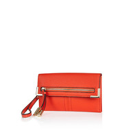 River Island Womens Red zip and tassel purse