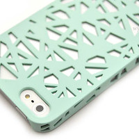 For iPhone 5 5S Birds Nest Design Thin Slim Case Cover +Stylus +Screen Protector