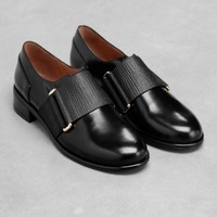 & Other Stories | Leather Flats | Black