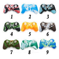 2016 Camouflage Silicone Skin Case Protective Cover for SONY Playstation 3 PS3 Controller Top Quality 9 Colors