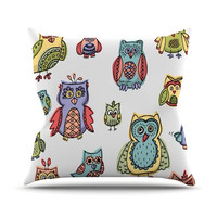 "Brienne Jepkema ""Owls"" Throw Pillow"