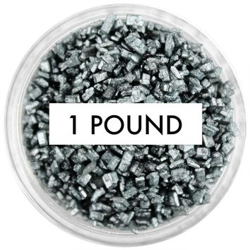 Pearly Charcoal Black Chunky Sugar 1 LB