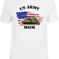 Army Mom Shirt.  With American Flag and Abrams Tank.