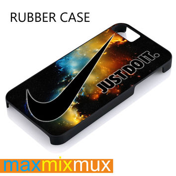 Just Do It Nebula White iPhone 4/4S, 5/5S, 5C, 6/6 Plus Series Rubber Case