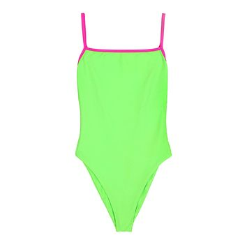 Skin by SAME One Piece in Neon Green/Neon Pink