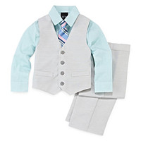 4-pc.Twill Vest Set - Toddler Boys 2t-5t