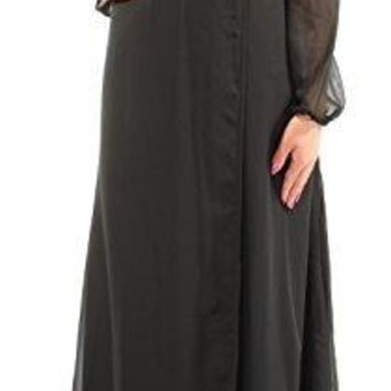 Bar III Womens Long Sleeve Wrap Maxi Dress Deep Black