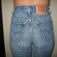 RARE Vintage 80's LEVI'S 512 high waist SKINNY JEANS TIGHT ANKLE Size 7 Jr L
