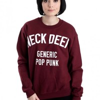 Neck Deep - Generic Pop Punk Maroon - Sweater