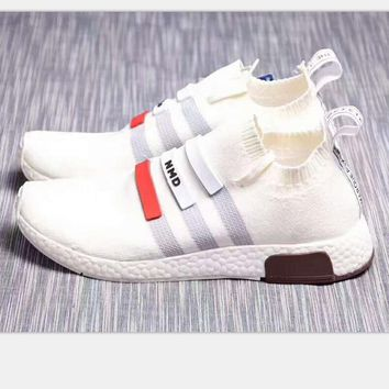 One-nice™ ADIDAS NMD Omega knit boots Running sports shoes white H-PSXY