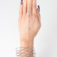 Textured Wire Cage Hand Chain