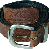 Brown Leather Money Belt with 33 cm long compartment - Ideal for traveling and casual wear