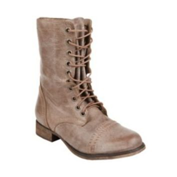 Steve Madden - TROOPA STONE LEATHER