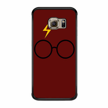 Harry Potter Glasses And Lightning Bolt Samsung Galaxy S6 Edge Plus Case