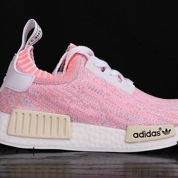 "Women Men ""Adidas"" NMD Boost Fashion Trending Pink Leisure Running Sports Shoes"