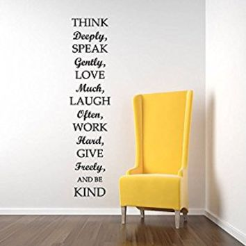 Wall Decal Vinyl Sticker Decals Art Decor Design Sign Live Laugh Work Inspire Words Letter Wedding Gift Living Room Bedroom (r424)