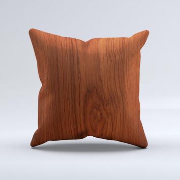 Rich Wood Texture Ink-Fuzed Decorative Throw Pillow