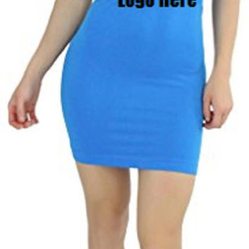 Custom Personalized Designed Womens Seamless Strapless Tube Dress